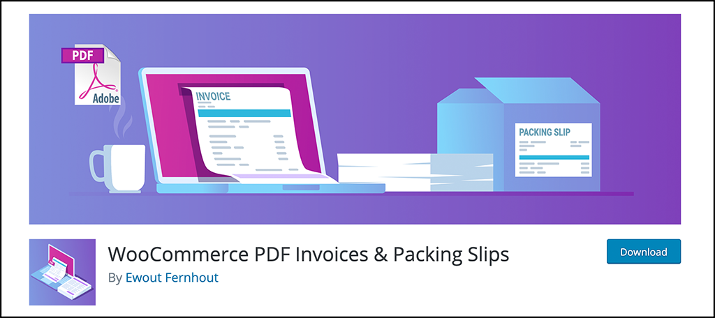 WooCommerce PDF Invoices and packing Slips plugin