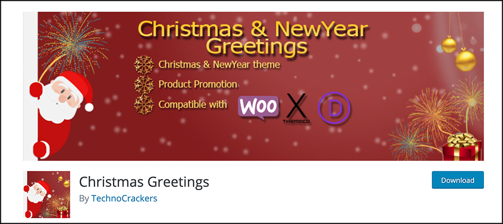 Christmas Greeting Plugin