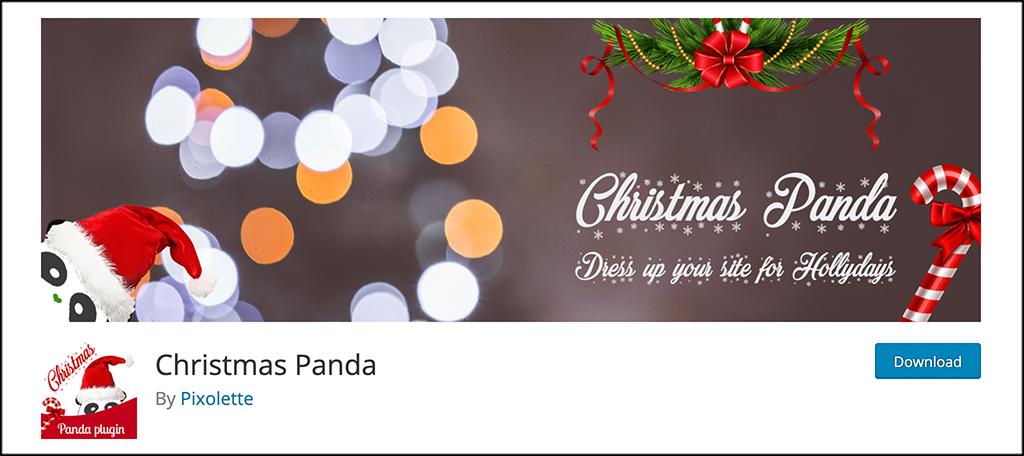Christmas Panda plugin