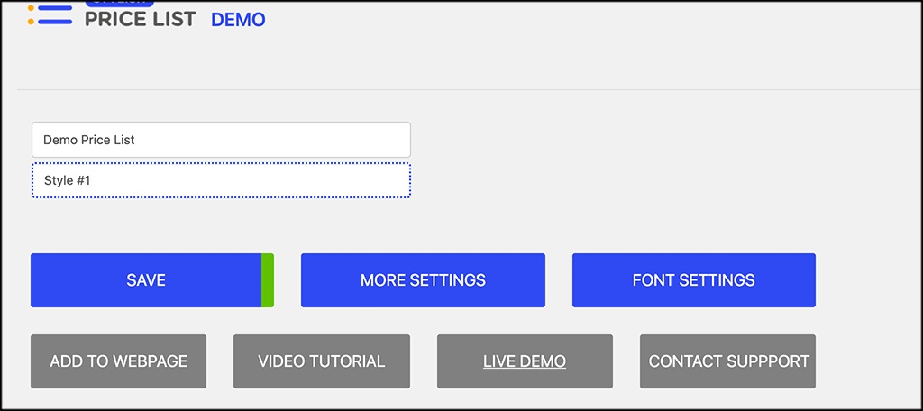 Click on font settings button