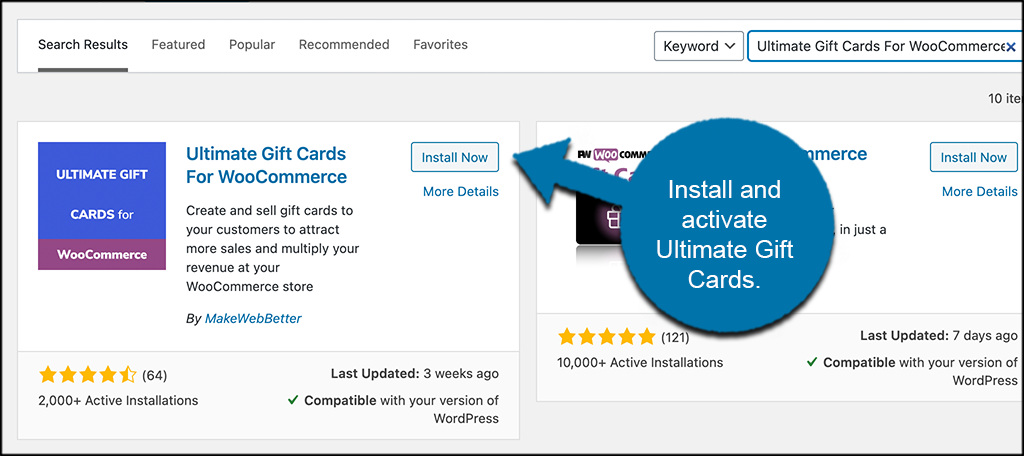 INstall and activate ultimate gift cards