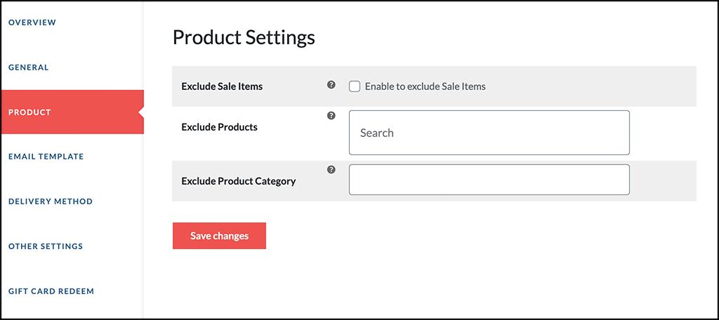Product tab