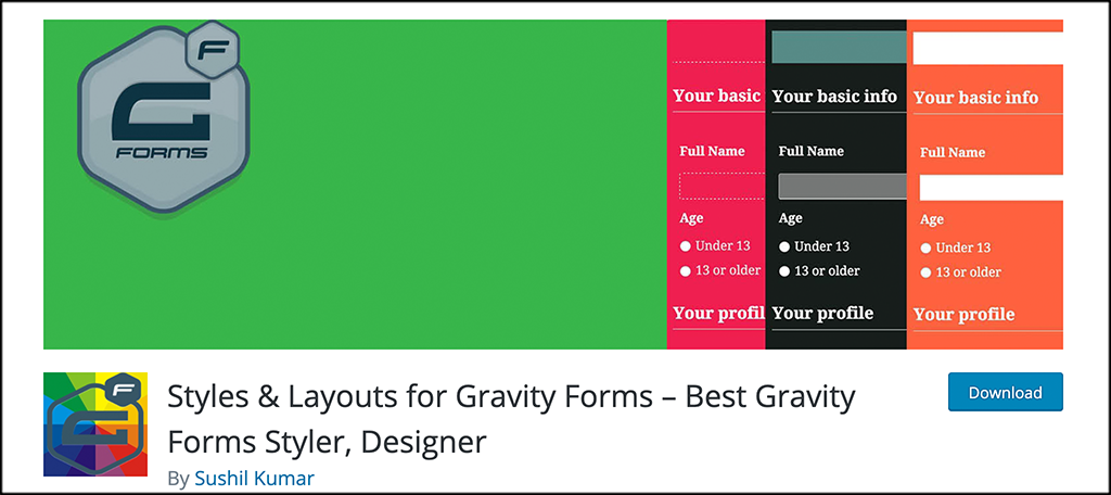 Styles and Layout for Gravity Forms