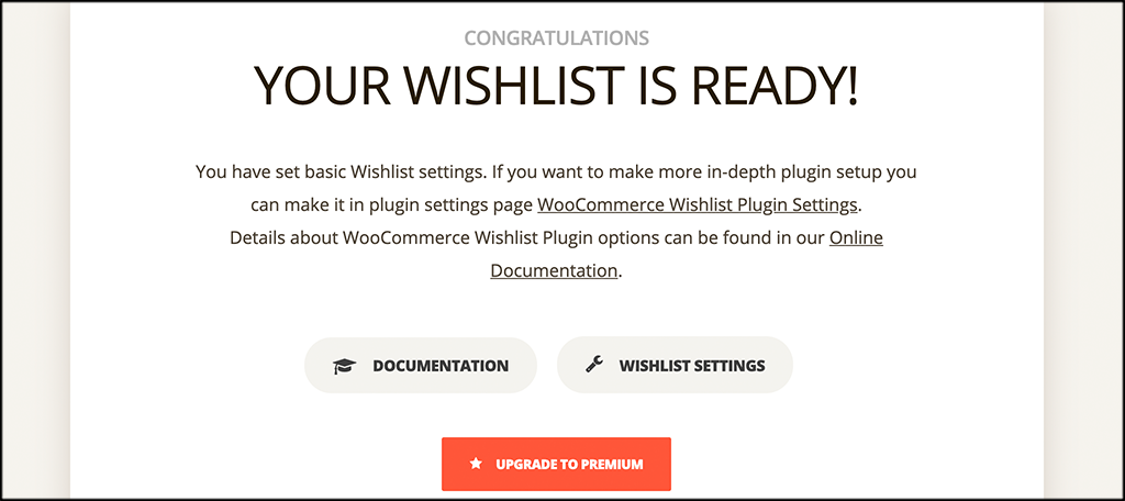 Finish the TI WooCommerce Wishlist setup