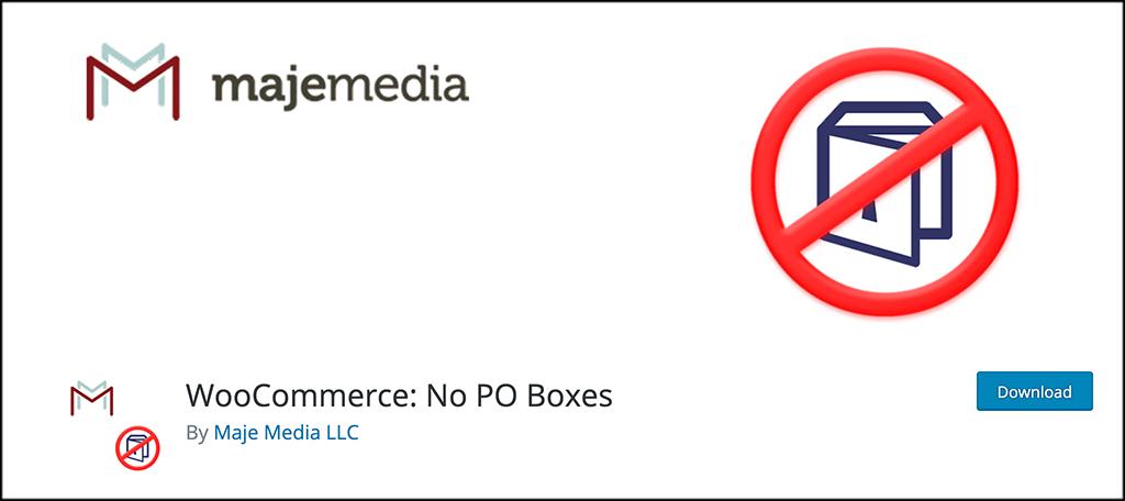 WooCommerce No PO Boxes plugin