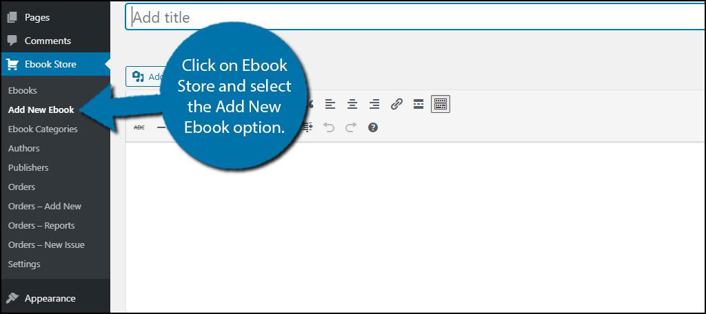 Add New Ebook