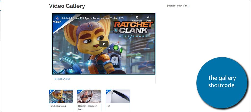 Gallery Shortcode