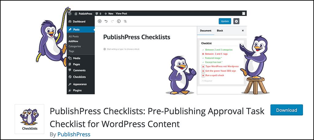 PublishPress Checklist plugin