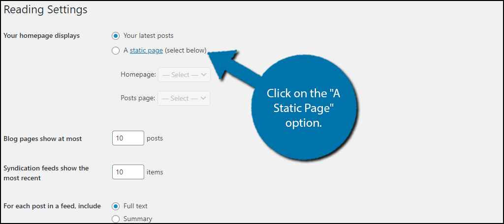 Static Page