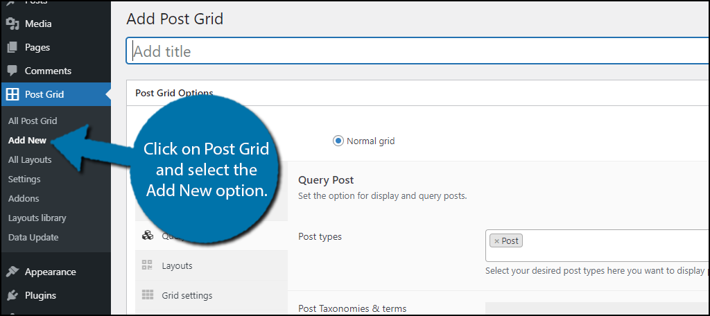 Add Post Grid