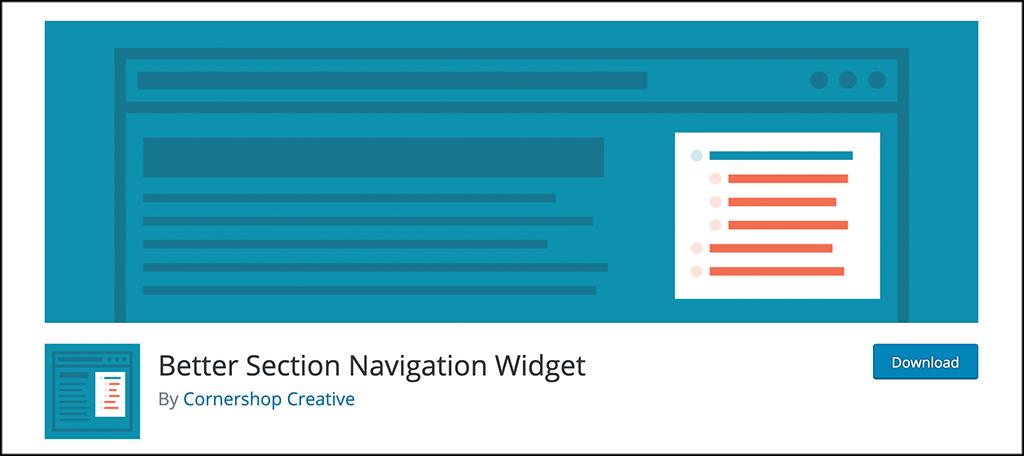 Better Section Navigation Widget