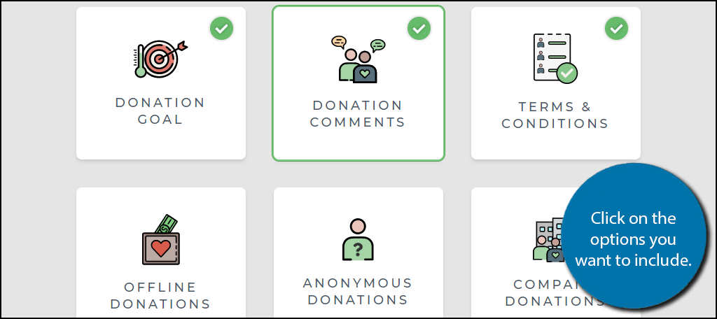 Donation Options
