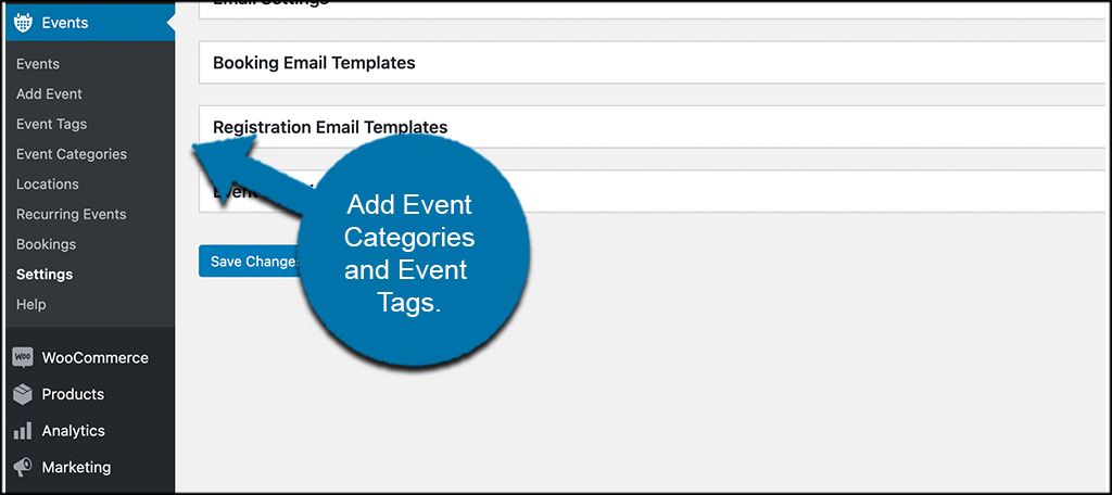 Add event categories and tags