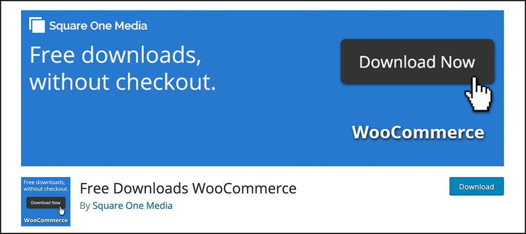 Free Download in WooCommerce plugin