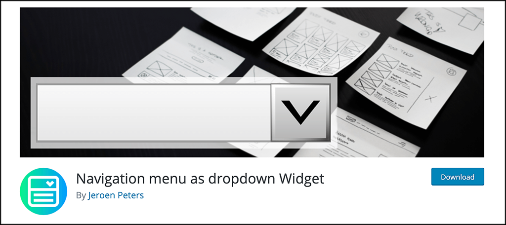 Navigation Menu as a Dropdown Widget