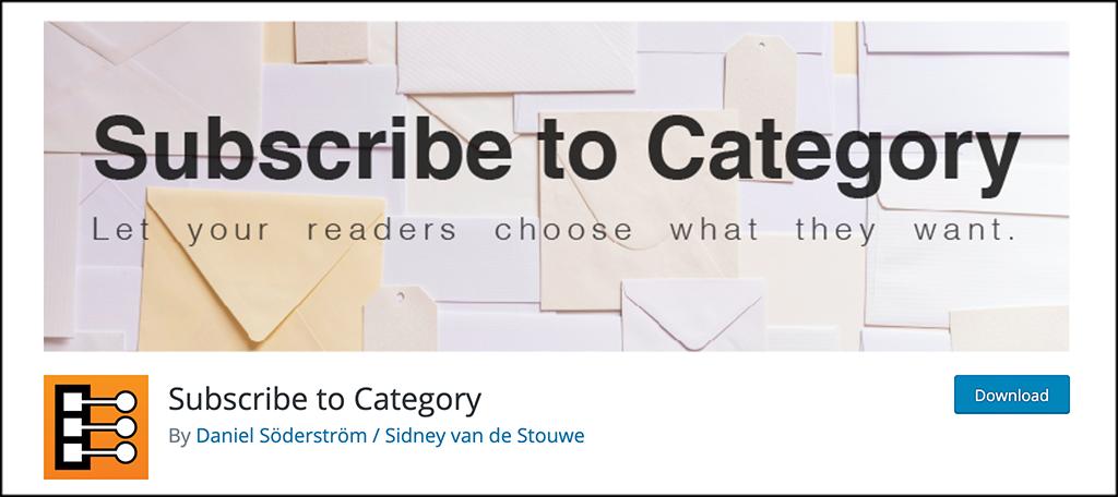 subscribe to category plugin