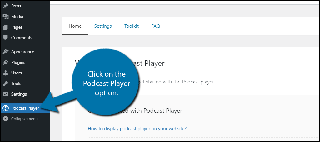 Podcast Player Option