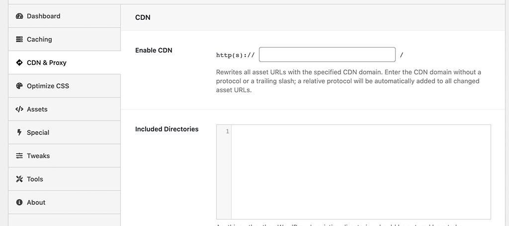 CDN and proxy setup