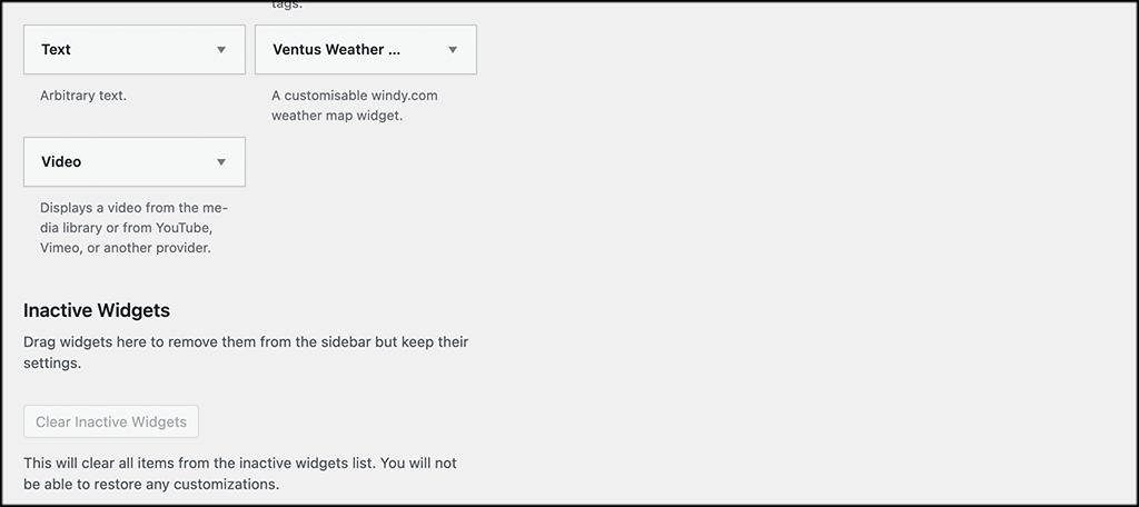 Ventus weather widget