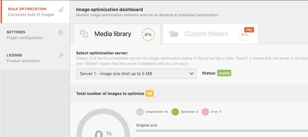 Click the bulk optimization tab