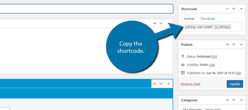 Short Code Copy