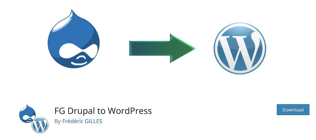 Fg Drupal to WordPress plugin