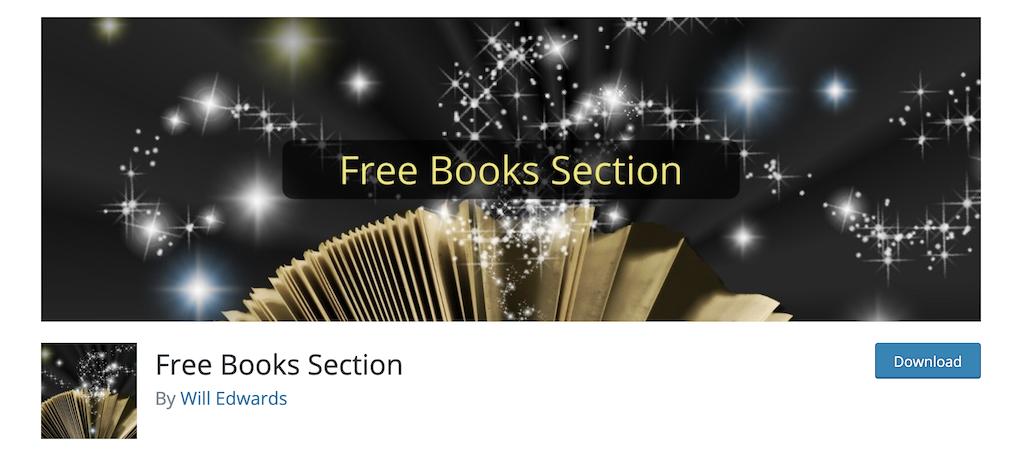 Free Books Section plugin