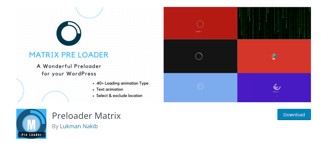 Preloader Matrix