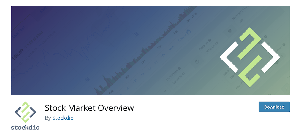 Stock market overview plugin for stock market website