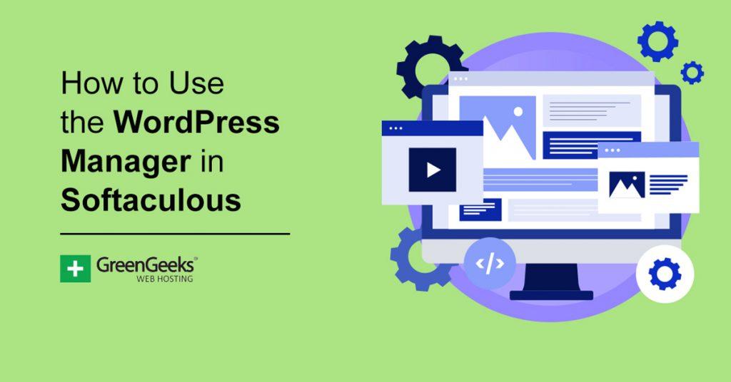 WordPress Manager Softaculous