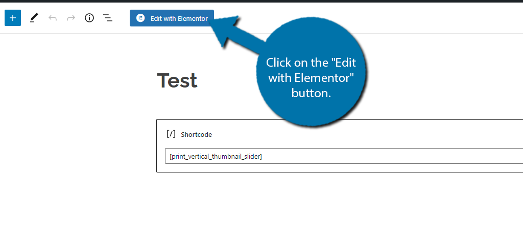 Edit with Elementor