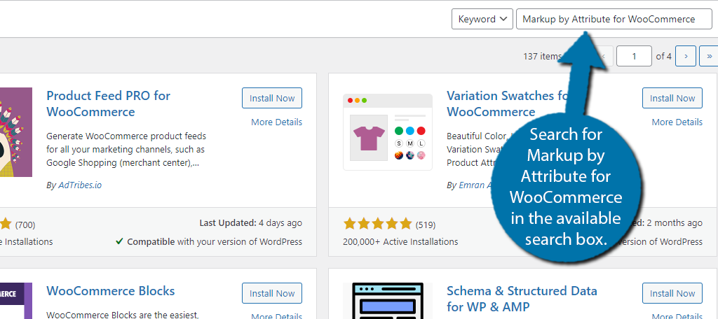 Markup Attribute WooCommerce