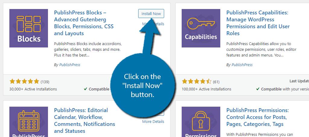 Install PublishPress Blocks