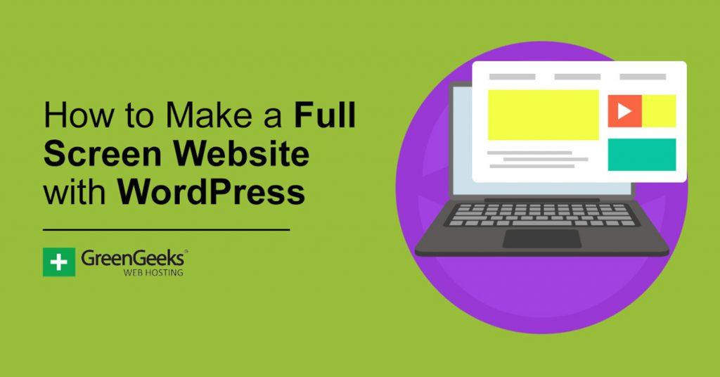 Full Screen Website in WordPress